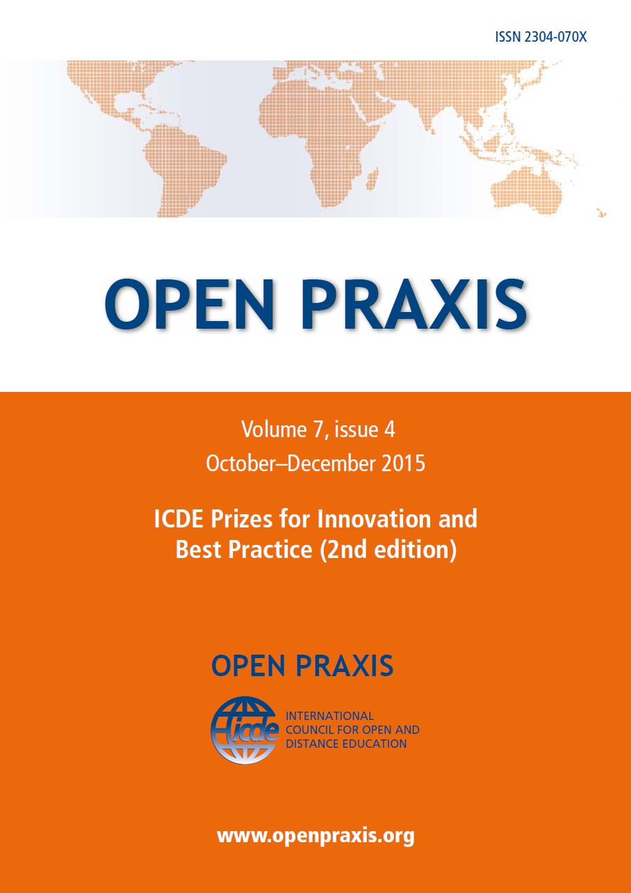 cover Open Praxis vol. 11 issue 2